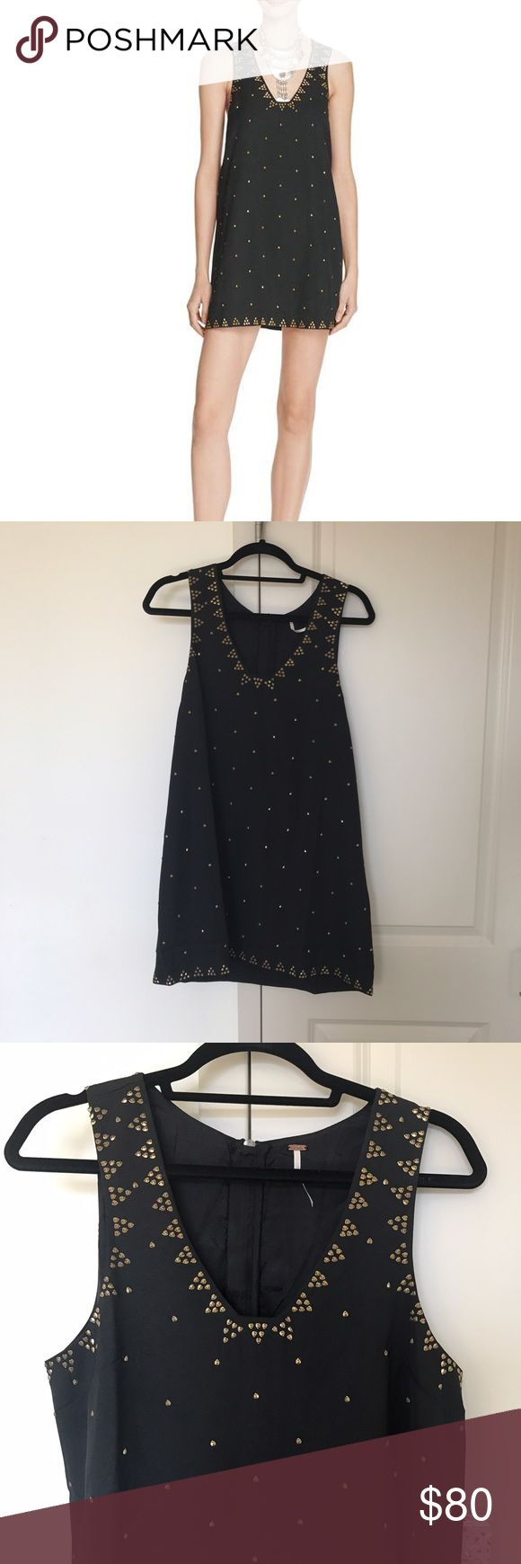 Free People Sequin Black Shift Dress Brand new Free People Dresses