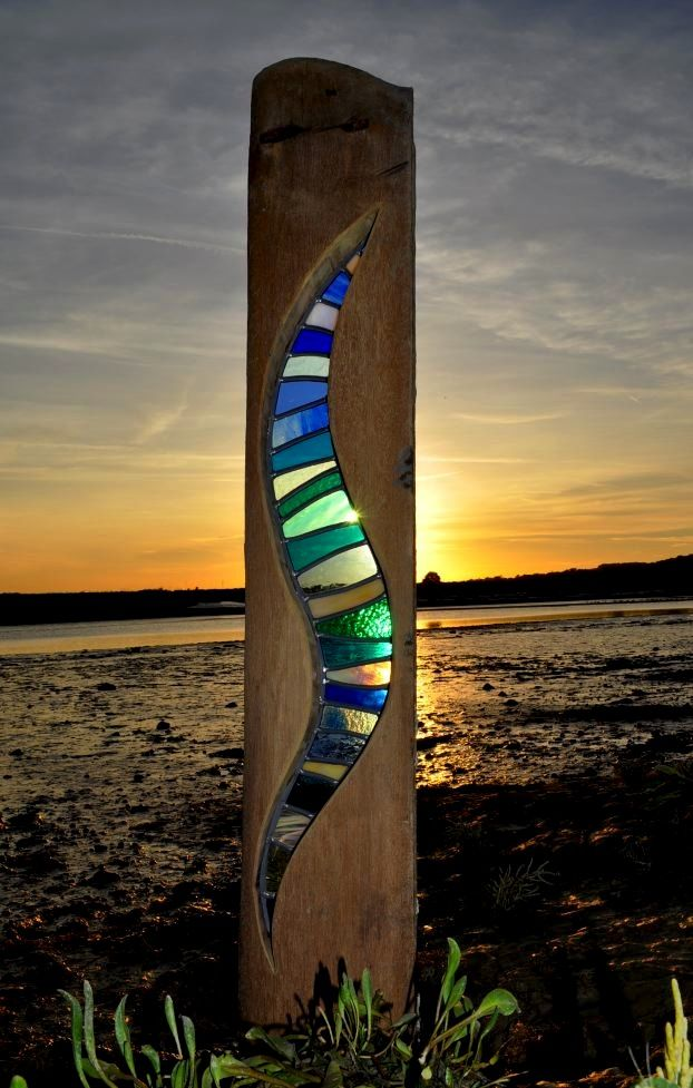 44 best louise v durham images on pinterest durham for How to make stained glass in driftwood