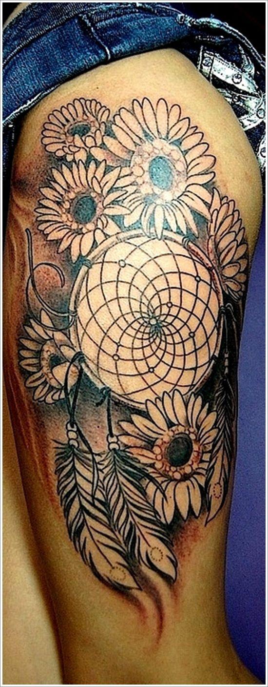 Cultural Dreamcatcher Tattoos Ideas in Modern Culture: Unique Leg Dreamcatcher Tattoo Designs For Women ~ Tattoo Ideas Inspiration