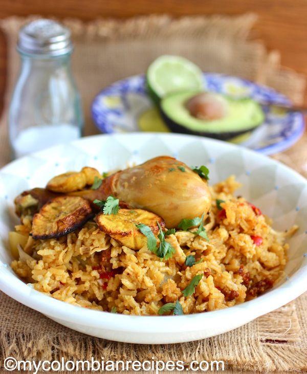 Arroz Atollado de Pollo y Chorizo (Creamy Rice with Chicken and Chorizo) #Colombian