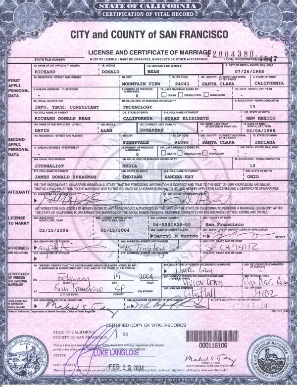marriage license sf california wikipedia perkahwinan mariage record ms contoh melayu ensiklopedia bebas bahasa francisco datei vereinigten partnerschaften gleichgeschlechtlicher staaten
