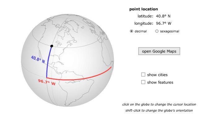 simulador coordenadas geograficas