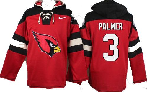 Carson Palmer Red Player Pullover NFL Hoodie
