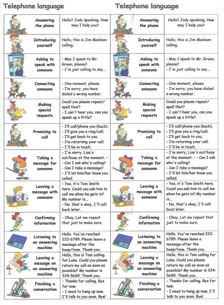 Telephone language #learnenglish #englishlanguage http://www.uniquelanguages.com/#/english-courses/4576881423: