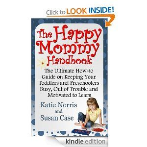 The Happy Mommy Handbook: The Ultimate How-to Guide on Keeping Your Toddlers and Preschoolers Busy, Out of Trouble and Motivated to Learn.  A MUST read.  I've read this book and it has so many great and simple ideas on how to stimulate your children's minds so they will want to play on there own and you will be able to do things around the house or just relax without turning on the TV for the kids.  It's only $4 on Amazon.