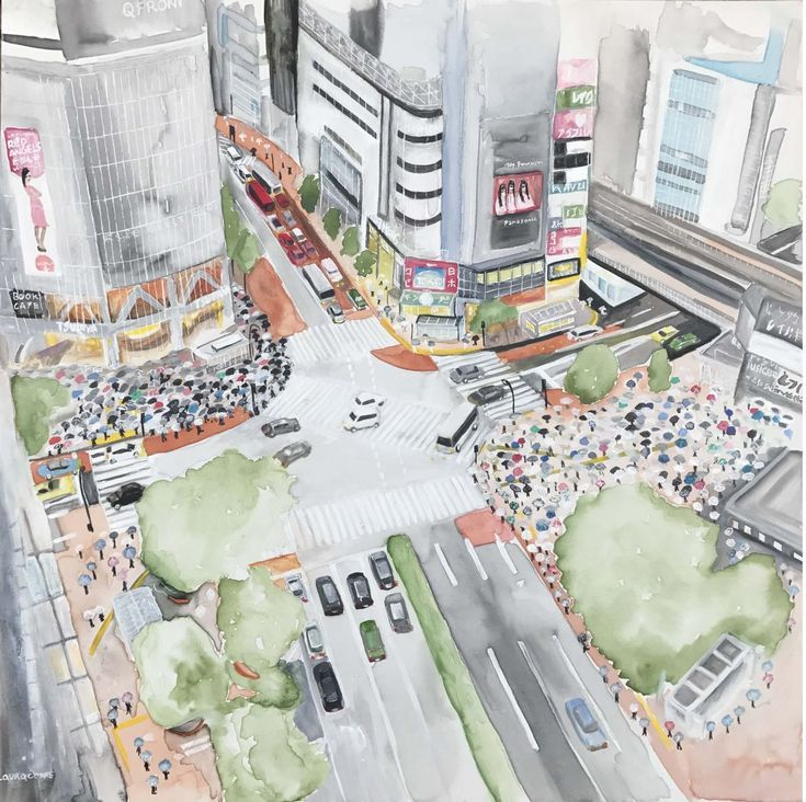 Buy Shibuya crossing (Tokyo), Mixed Media painting by laura correggioli on Artfinder. Discover thousands of other original paintings, prints, sculptures and photography from independent artists.