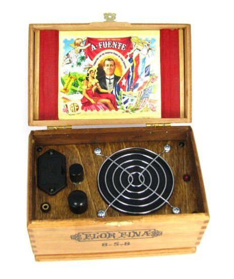The Smartphone Speaker System Made From An Old Cigar Box