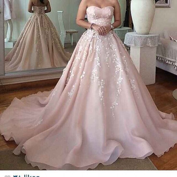 Light Pink A Line Organza Wedding Dress Bridal Appliques Mariage Court Train Romantic Vestido De Noiva 2016 Customizable Gowns-in Wedding Dresses from Weddings & Events on Aliexpress.com | Alibaba Group