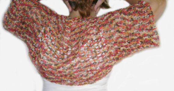 Crochet bolero shrug.Multicolored bolero by RiaCrochetCreations, €33.70