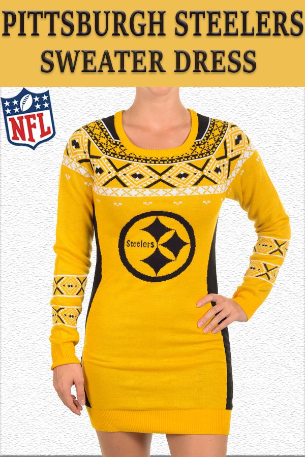 Official NFL Pittsburgh Steelers Sweater Dress - Click Here ==> http://sports-giveaways.com/collections/pittsburgh-steelers?utm_source=Pinterest&utm_medium=Traffic&utm_term=pinterest-steelers%20sweater%20dress&utm_campaign=pinterest-steelers%20sweater%20dress