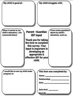 free special education iep parent input form free this parent input form