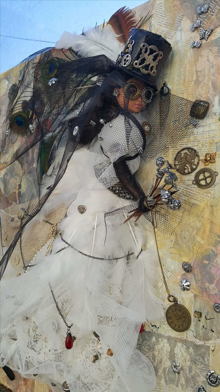 Steampunk Bride  by Thérèse Quinlivan - Steampunk Artwork a mixed media creation