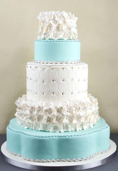 Tiffany blue wedding cake                                                                                                                                                      More