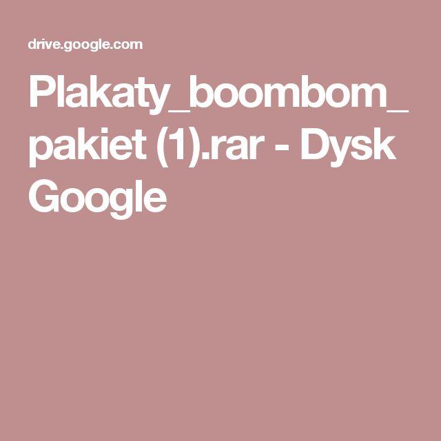 Plakaty_boombom_pakiet (1).rar - Dysk Google