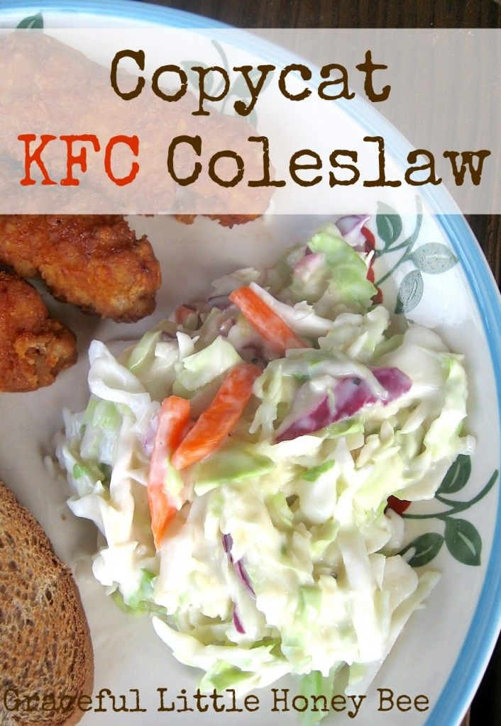 Who doesn't love KFC's coleslaw? This recipe is really similar and is great to take to picnics. Plus, you can put it together in a flash! It tastes best after it's been refrigerated for a few hours, but needs to be eaten within a couple days to maintain the best flavor.