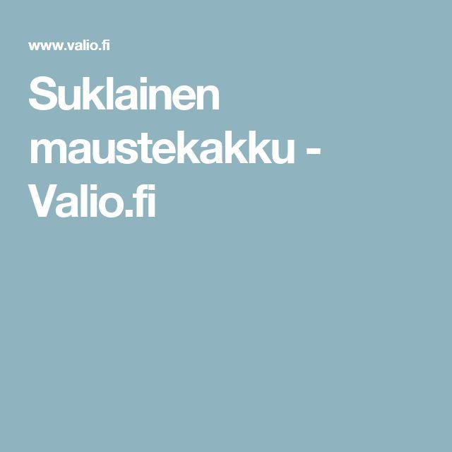Suklainen maustekakku - Valio.fi