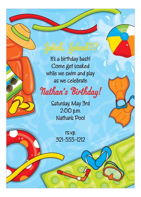 Summer Splash Invitation Pool Party Invitations Pinterest Pool