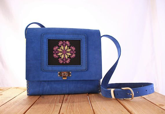 Check out this item in my Etsy shop https://www.etsy.com/uk/listing/539926370/wood-leather-bag-o-blue-leather-bag-o