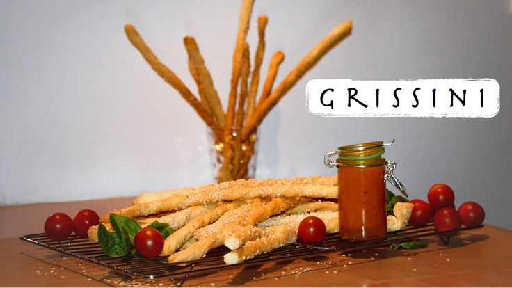 Italian Grissini - Twisted Sesame Seed Breadsticks