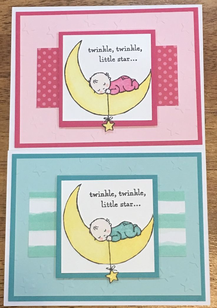 98 best Cards - Moon Baby images on Pinterest   Baby cards, Baby ...