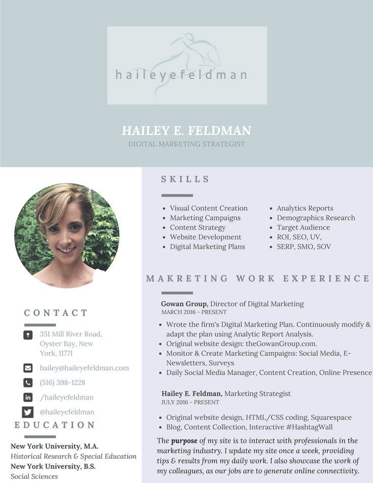 9 best images about Hailey E Feldman on Pinterest Digital - digital marketing resumes