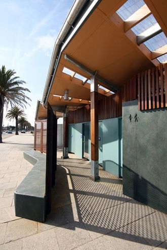 Middle park beach amenities gregory burgess architects toilet pinterest parks beaches Public bathroom design architecture