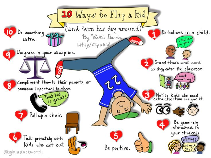 10 Ways to Flip a Kid and turn their day around. Great infographic! We love Sylvia Duckworth. www.yogome.com
