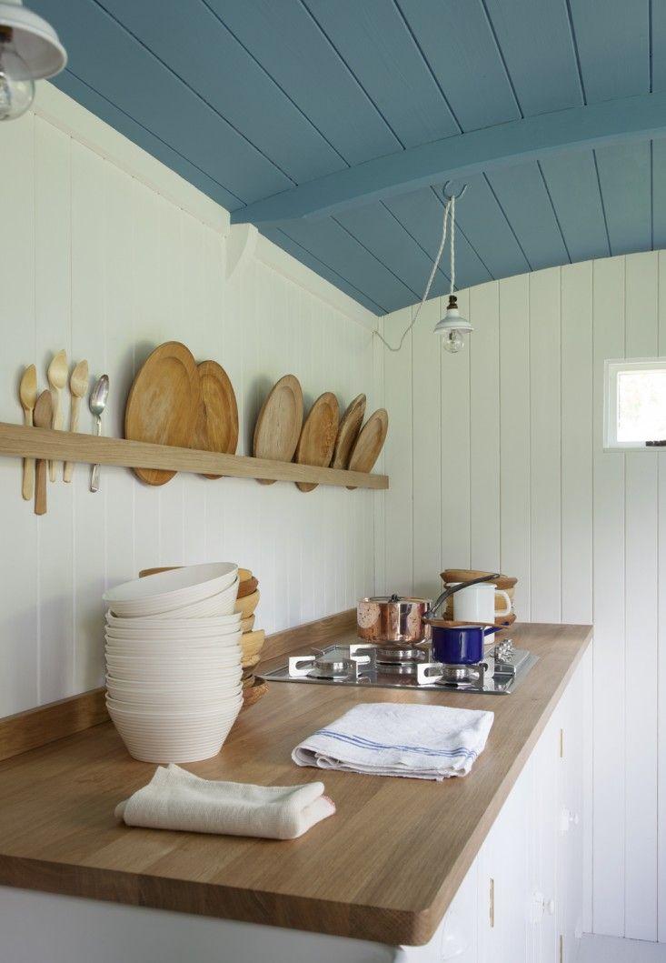 Rehab Diary: A British Standard Kitchen in a Shepherd's Hut - Remodelista