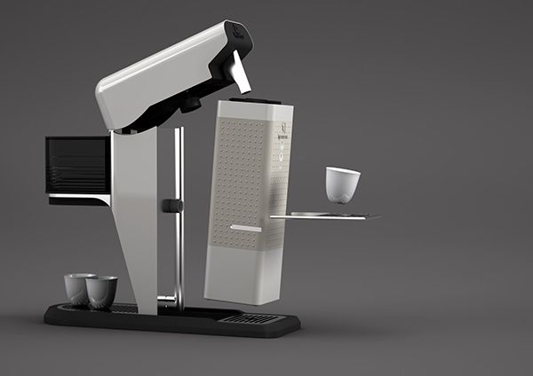 Nespresso Binome Coffee this looks as a real time machine!