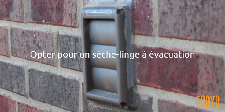 Astuce #ECOYO du jour: Opter pour un sèche-linge à évacuation  Si vous ne pouvez vous passer d'un sèche-linge et que vous disposez d'une sortie d'évacuation, optez pour un sèche-linge à évacuation: ils consomment moins que les sèche-linges à condensation. Choisissez de préférence un appareil de classe A