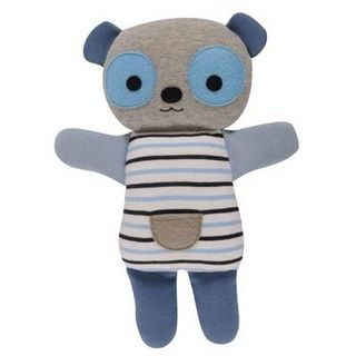 Baby boys gift idea online - Tiger Tribe Cheekies Panda - Blue - $27.95 - Funky little blue panda by Tiger Tribe!  These little creatures have been lovingly designed for maximum cuddle power and make a gorgeous baby gift!  Sure to be a bedtime favourite! Baby boys gift idea online - Tiger Tribe