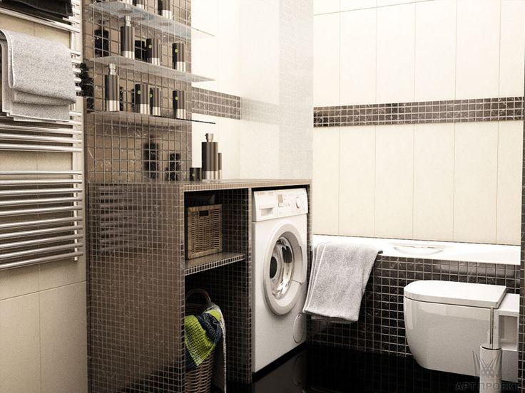 Визуализация интерьера ванной. Ракурс 1