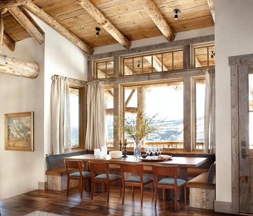 yep! would enjoy a few meals here a few times a year :: Mountain home, luxurious breakfast nook, Colorado. Highline Partners.