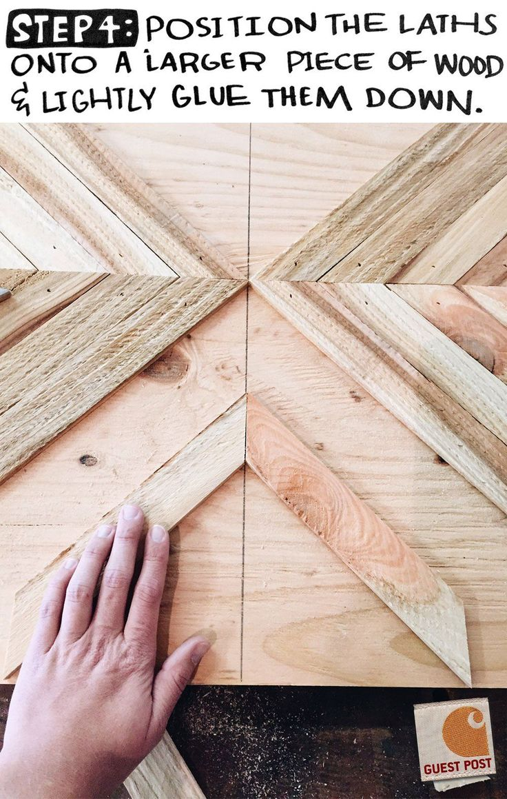 Get behind the scenes with woodworker, Aleksandra Zee. She takes you through her creative process and shows you how to make your own chevron masterpiece.