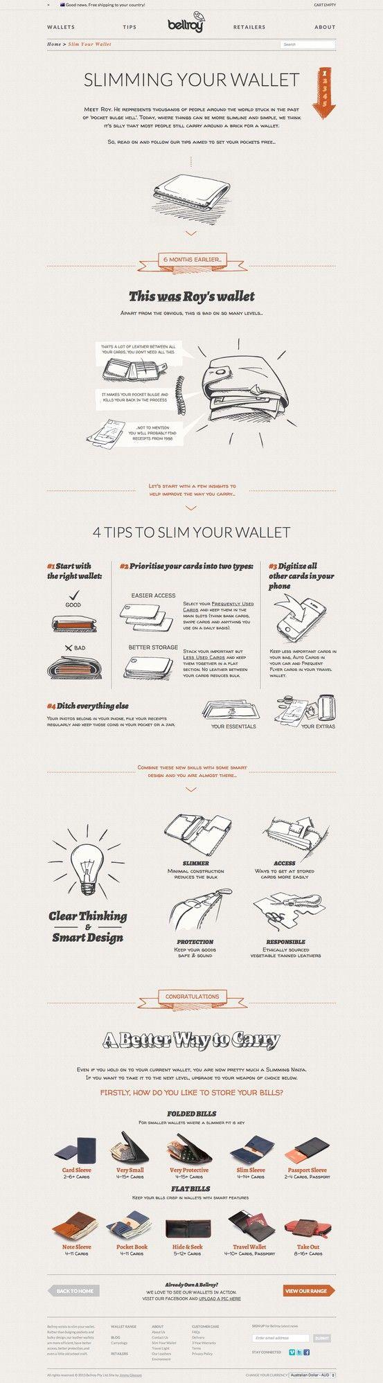 Bellroy. Slim your wallet. (More design inspiration at www.aldenchong.com)