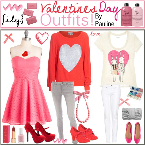 valentines day outfits - Girls Valentines Outfit