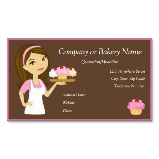 46 best customizable cupcake business cards images on pinterest brunettepink cupcake bakerbakery business card reheart Choice Image