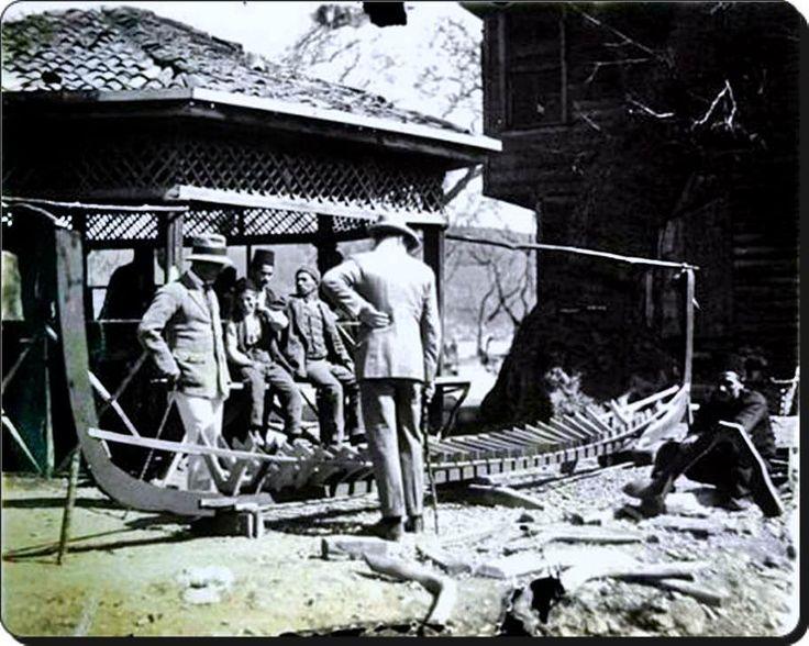 Kayık (tekne) yapım yeri  Sarıyer - 1920'ler