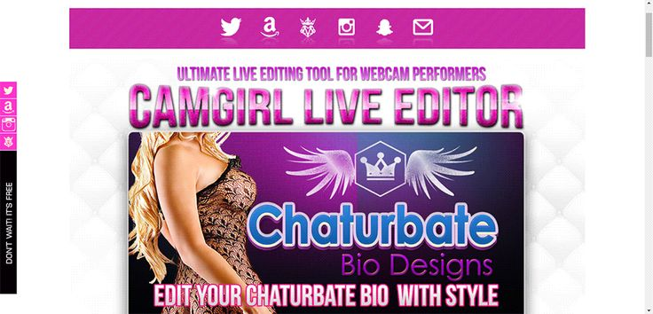 #Chaturbate Bio design available for live editing. Abigail Bio design for CB on #CamgirlLiveEditor