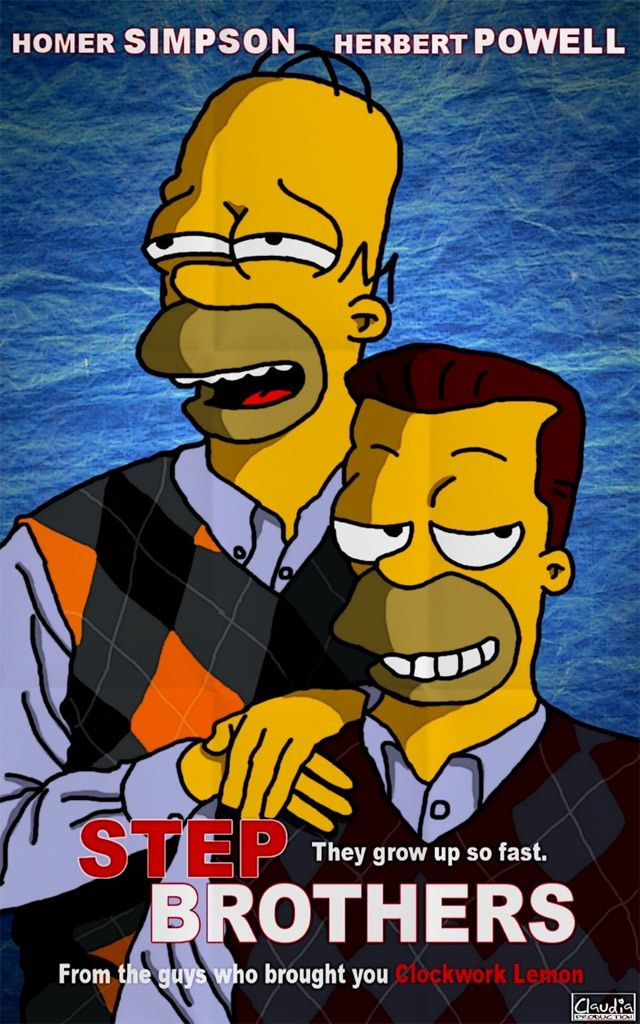 Movie Mash Up Step Brothers The Simpsons They Re Half
