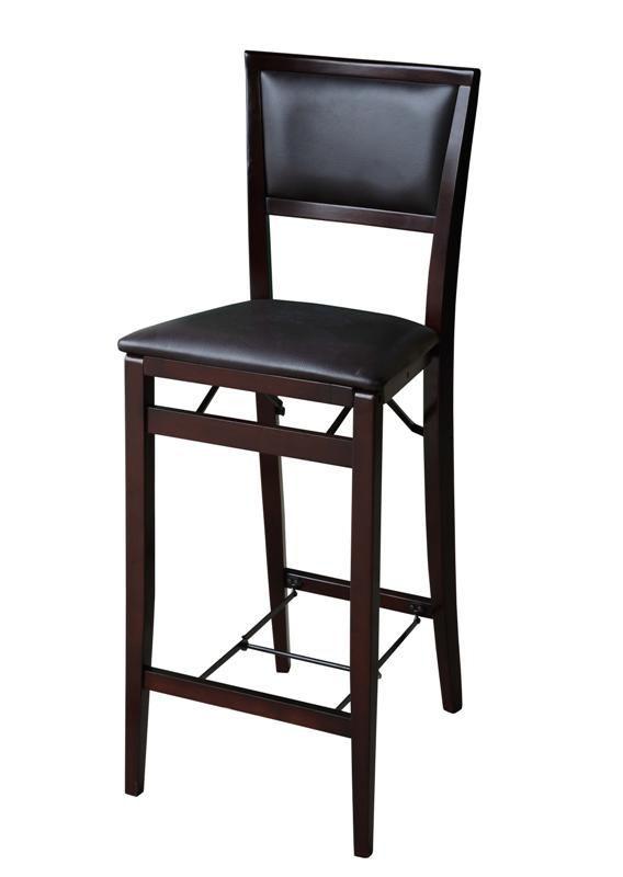 Linon Triena Pad Back Folding Bar Stool 30 Inch Seat Height Brown In 2021 Folding Bar Stools Bar Stools Bar Chairs 30 inch folding bar stool