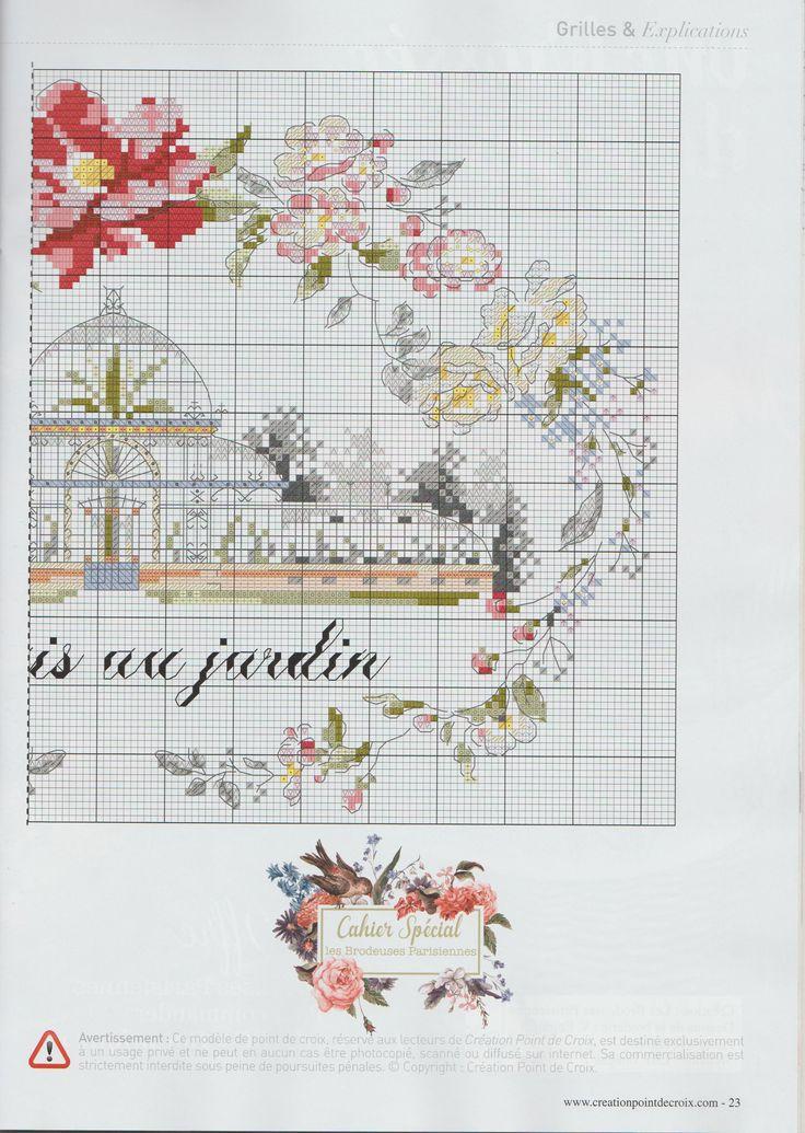 Creation Point de Croix 57 - Helene Le Berre - je suis au jardin / 3/3