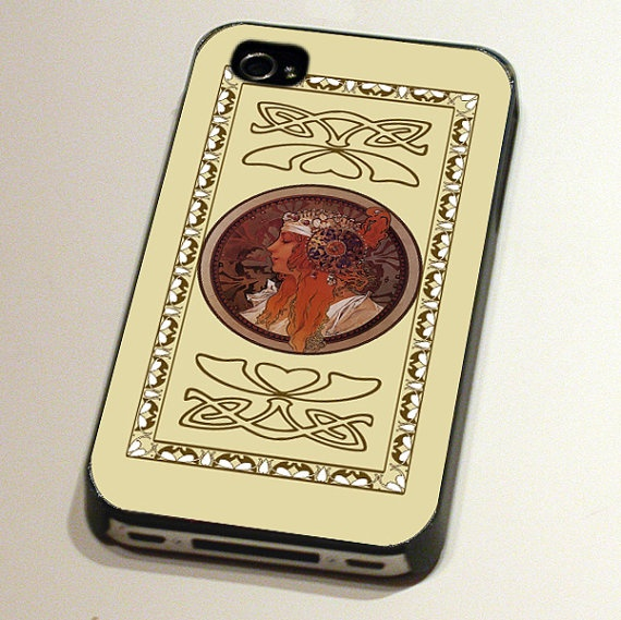 Case for an iPhone4 or 4S - Blonde by Alphonse Mucha