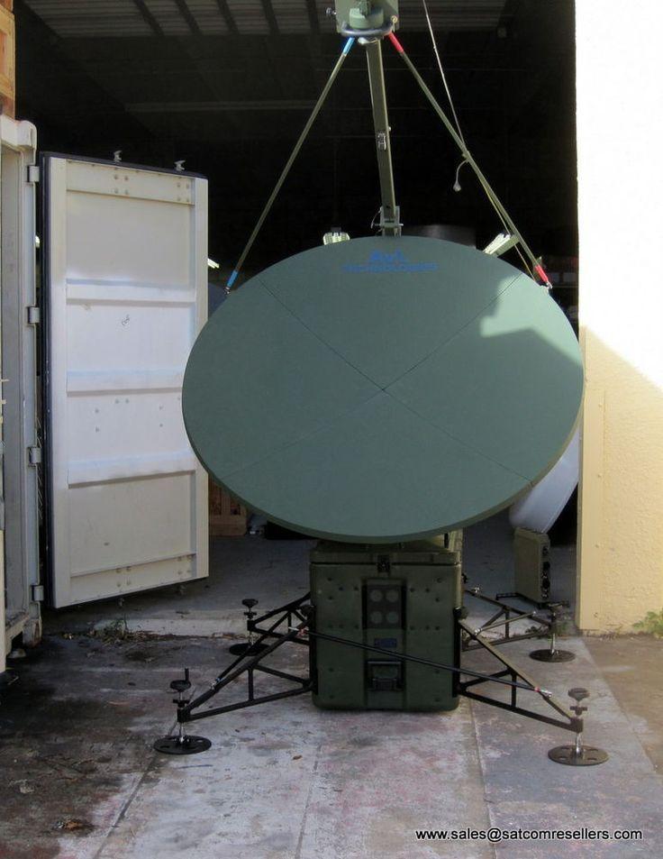 New AVL TracStar 1.6M Ku-Band Auto Acquire Flyaway Antenna on positioner base  #CobhamAVLTracStar