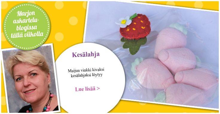Suussa sulavat vaahtokarkit kesälahjaksi. Katso lisää Maijun blogista.