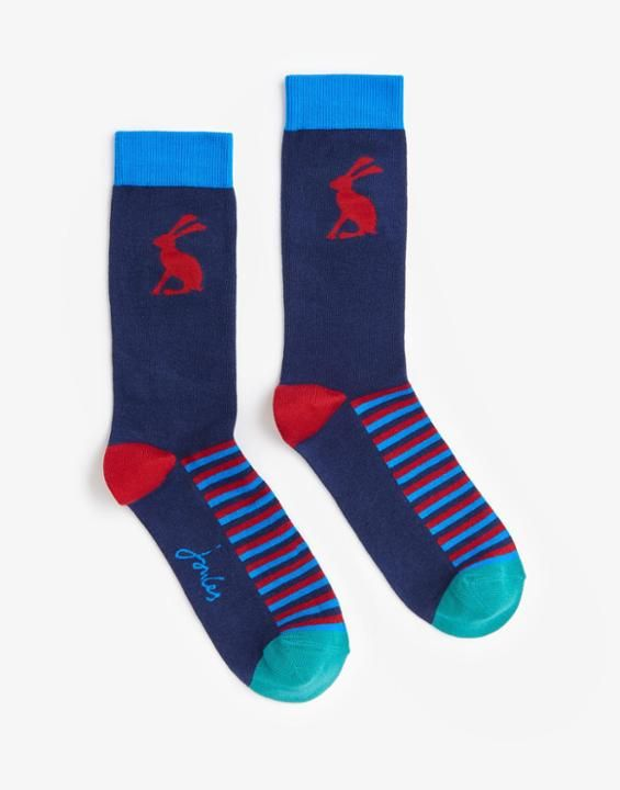 Brilbamboom Hare Bamboo Socks , Size One Size | Joules UK