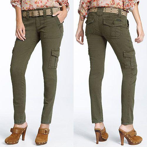 Sanctuary Peace Skinny Leg Belted Cargo Pants
