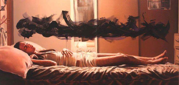 "Album: Archetyp cienia jako składnik podświadomości [The Shadow Archetype as the Component of the Subconscious] Jennifer Cronin ""Untitled no. 1 (from the peculiar manifestation of paint in my everyday life)"" http://www.jennifercronin.com/paintings.html"