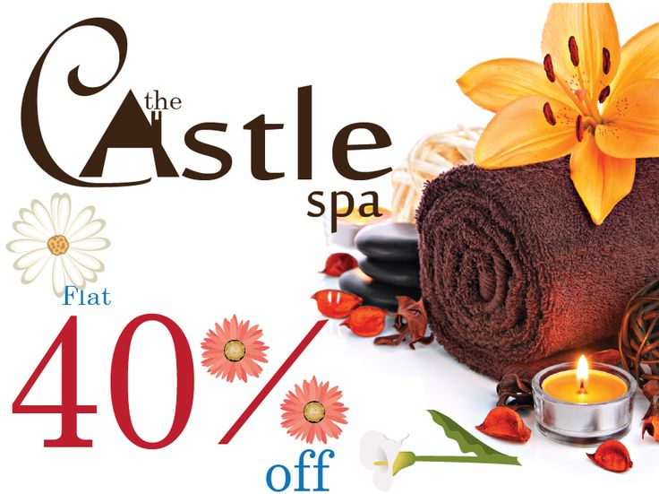 SATURDAY SUPER SAVER: Get flat 40% Off On All Services at The Castle Spa. #Spa #discount #deals #offers