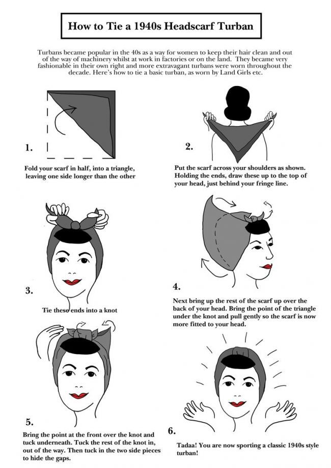 Worcester Vintage Home Of W A V E Amp The Vintage Guide To Worcester How To Tie A 1940s Style Turban Hair 1940s Hairstyles Head Scarf Vintage Hairstyles
